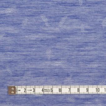 コットン&シルク×幾何学模様(ブルー)×ボイルジャガード サムネイル4