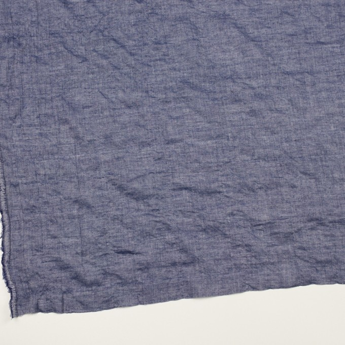テンセル&コットン混×無地(ネイビー)×ボイルシャーリング イメージ2