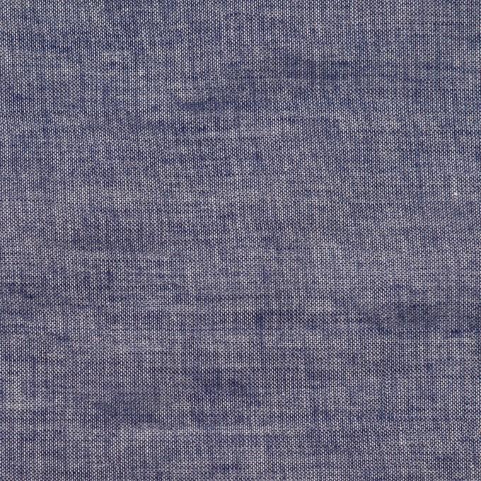 テンセル&コットン混×無地(ネイビー)×ボイルシャーリング イメージ1