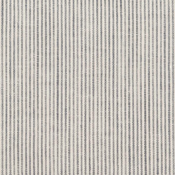 コットン&リネン×ストライプ(ネイビー&オフホワイト)×シーチング_全2色 イメージ1