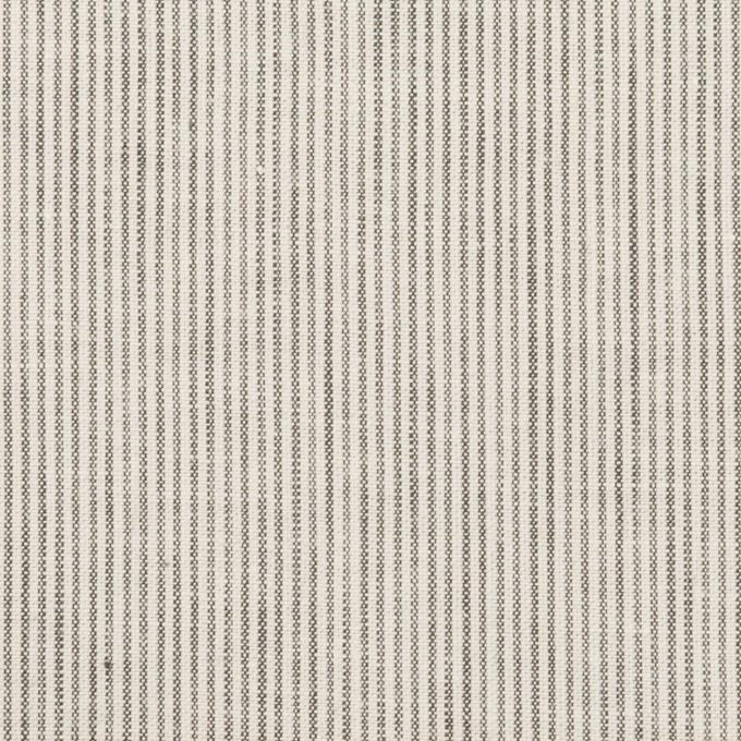 コットン&リネン×ストライプ(チャコール&アイボリー)×シーチング_全2色 イメージ1