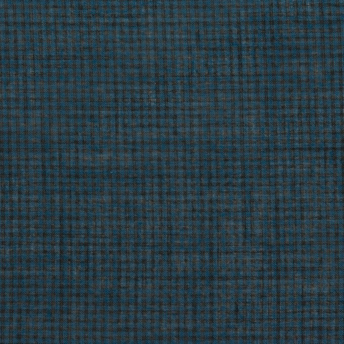 コットン×チェック(ネイビー)×シーチング_全2色 イメージ1