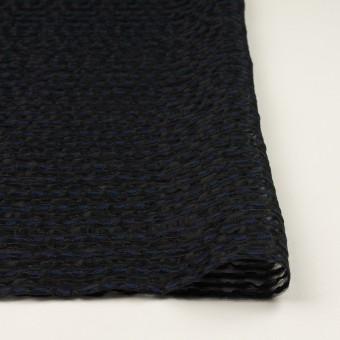 コットン&ナイロン混×ボーダー(ブラック&ミッドナイトブルー)×ボイルジャガード サムネイル3