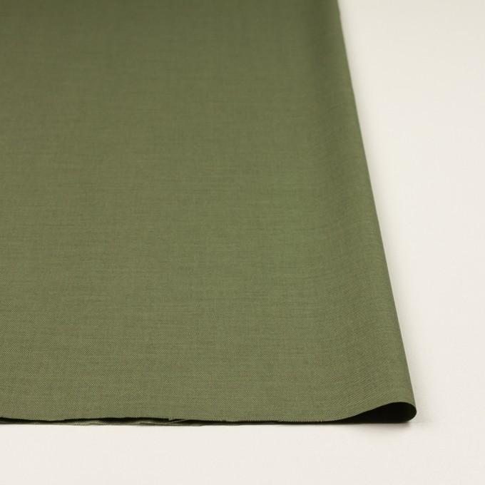 コットン&シルク×無地(カーキグリーン)×サージ_全4色 イメージ3