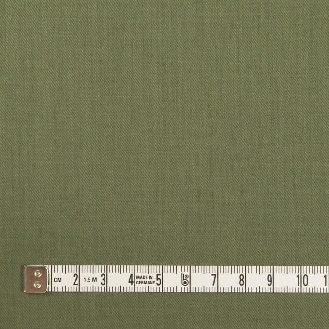 コットン&シルク×無地(カーキグリーン)×サージ_全4色 イメージ4