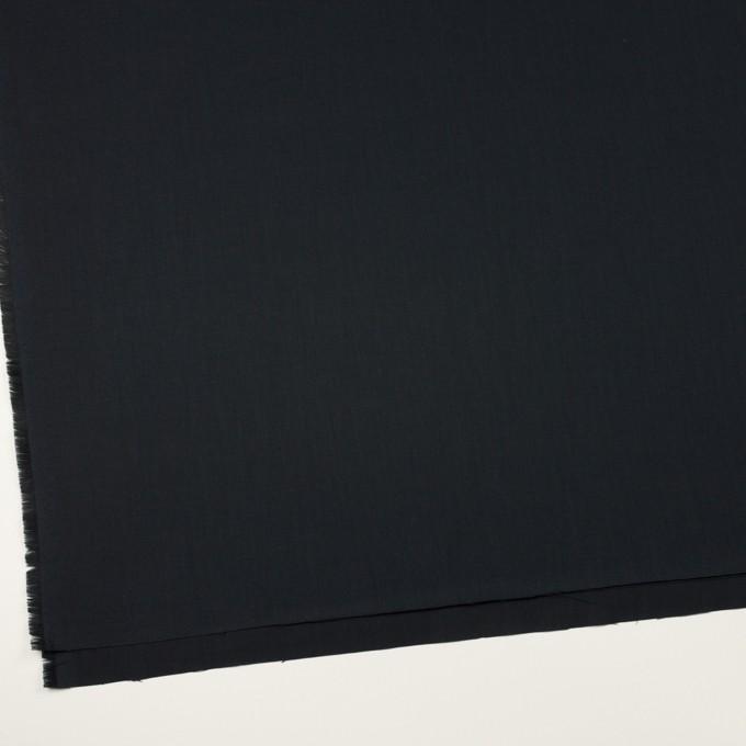 コットン&シルク×無地(ブラック)×サージ_全4色 イメージ2