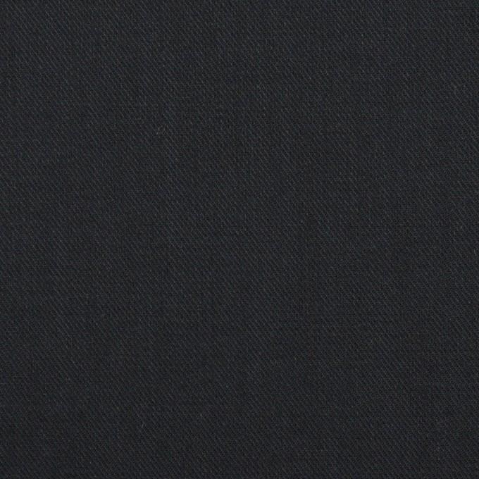 コットン&シルク×無地(ブラック)×サージ_全4色 イメージ1