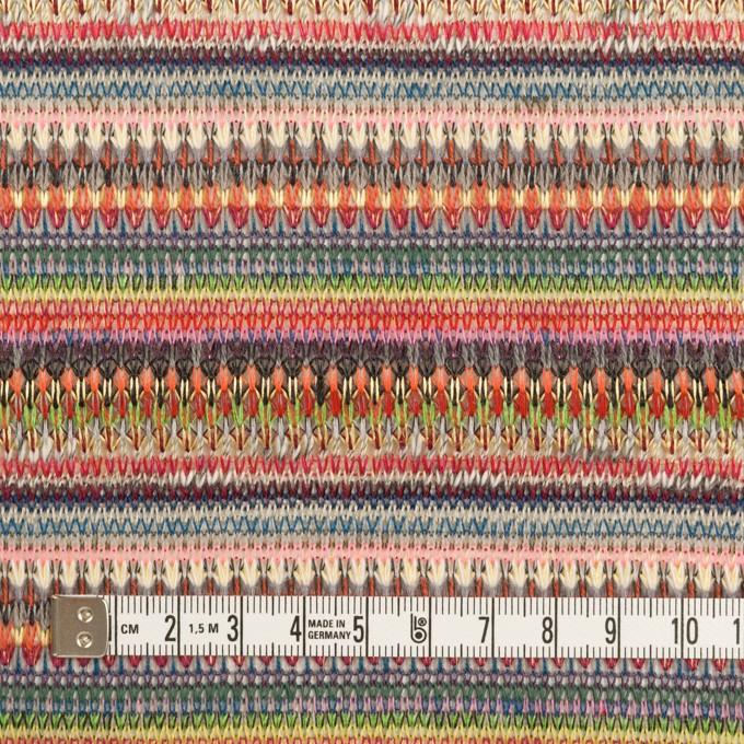 ポリエステル&レーヨン×ミックス(チェリー&グレー)×ジャガードニット_イタリア製 イメージ4