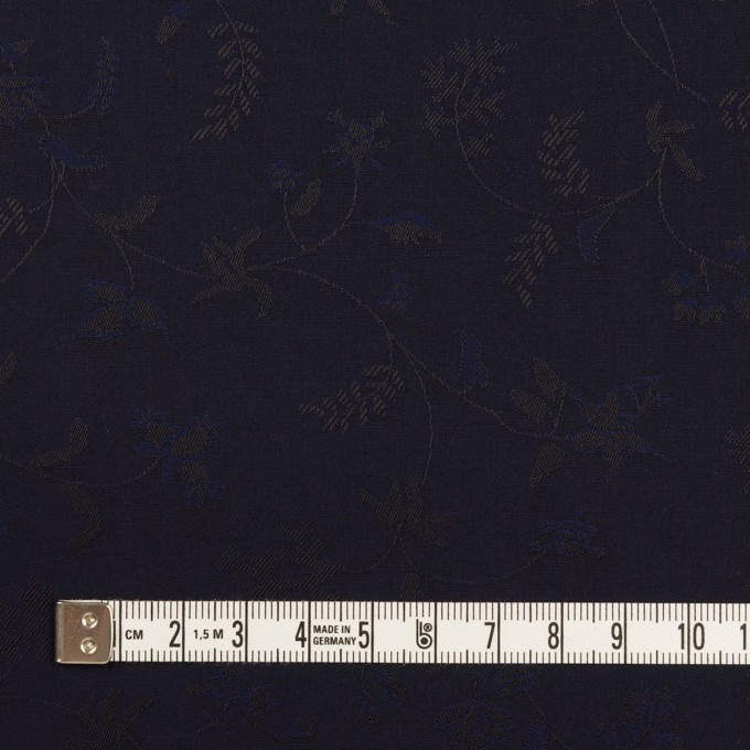 コットン×フラワー(ネイビー)×ブロードジャガード イメージ4