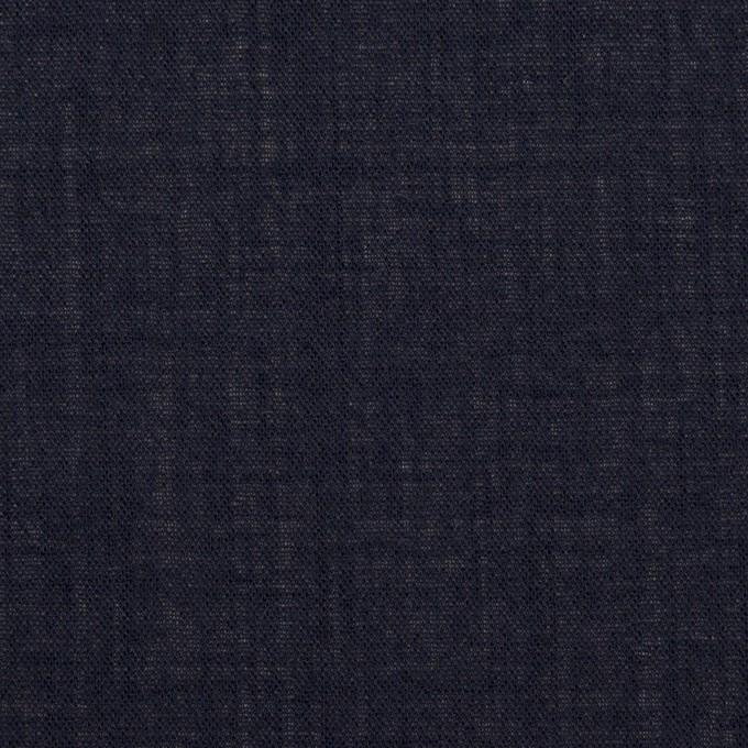ウール×無地(ネイビー)×ボイル_イタリア製 イメージ1