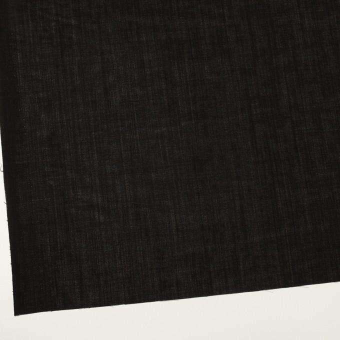 ウール×無地(ブラック)×ボイル イメージ2