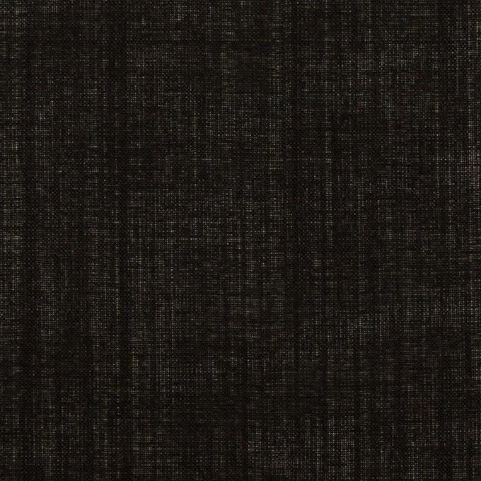 ウール×無地(ブラック)×ボイル イメージ1