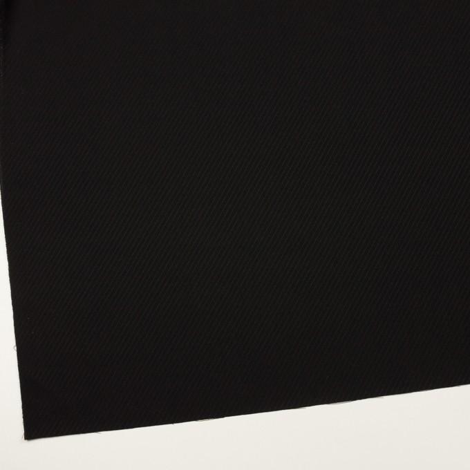 ウール×無地(ブラック)×ボイルジャガード イメージ2