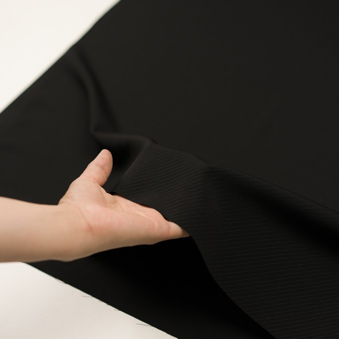 ウール×無地(ブラック)×ボイルジャガード イメージ5