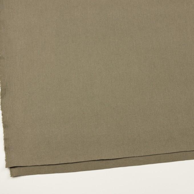 コットン&リネン×無地(グレイッシュカーキ)×厚オックスフォード イメージ2