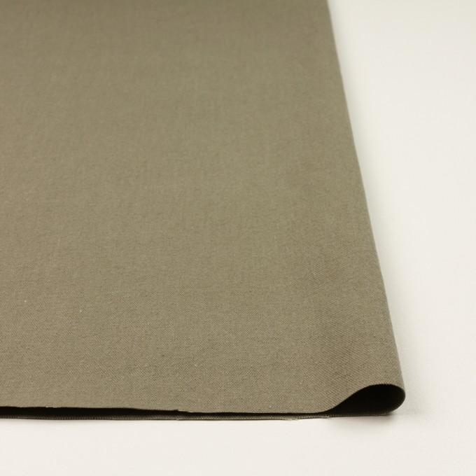 コットン&リネン×無地(グレイッシュカーキ)×厚オックスフォード イメージ3