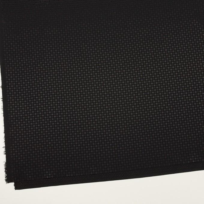 ポリエステル×ドット(ブラック)×ボイルジャガード イメージ2