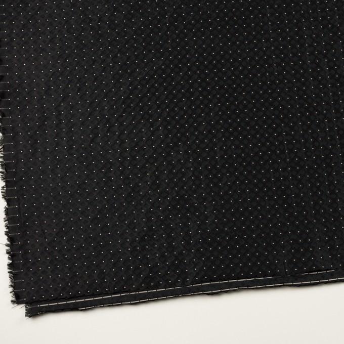 ポリエステル×ドット(ブラック)×形状記憶ジャガード イメージ2