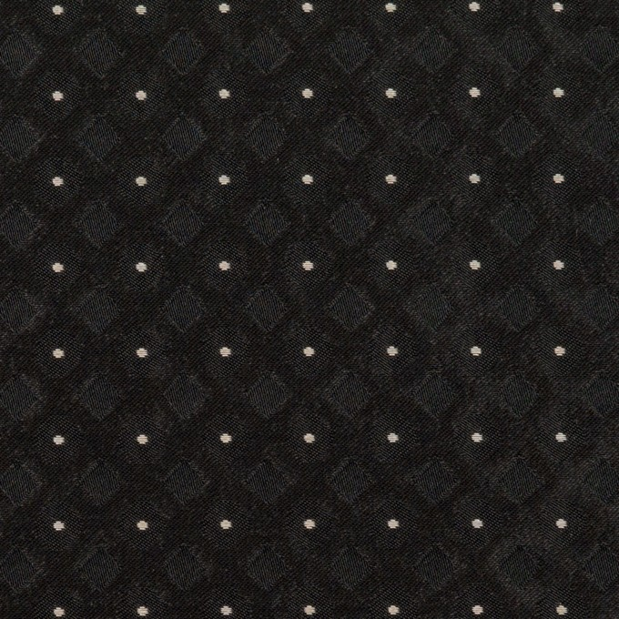 ポリエステル×ドット(ブラック)×形状記憶ジャガード イメージ1