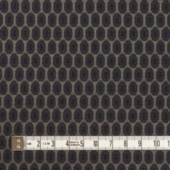 コットン&ポリエステル混×小紋(ダークネイビー&チャコールブラック)×サテンジャガード_フランス製 サムネイル4
