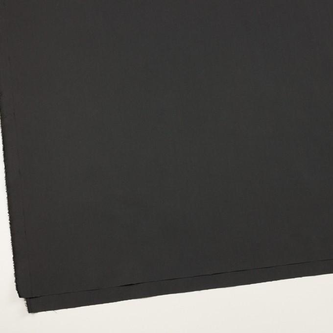 コットン&ポリアミド×無地(チャコール)×高密ブロード_イタリア製_全2色 イメージ2