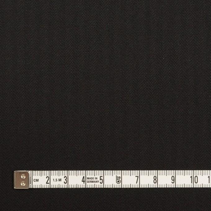 コットン×無地(ブラック)×ヘリンボーン_全2色 イメージ4