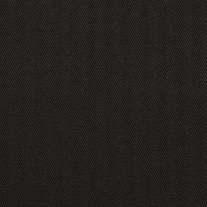 コットン×無地(ブラック)×ヘリンボーン_全2色 イメージ1
