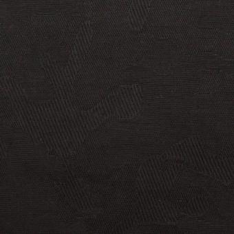 コットン&ポリウレタン×迷彩(ブラック)×ジャガード・ストレッチ サムネイル1