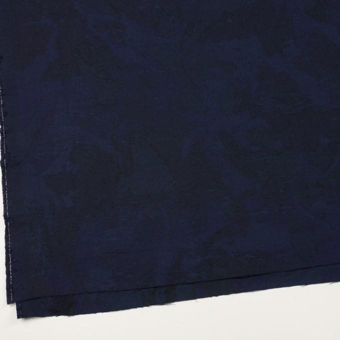 コットン×幾何学模様(ミッドナイトブルー)×ジャガード イメージ2