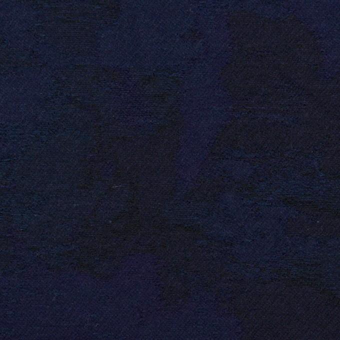 コットン×幾何学模様(ミッドナイトブルー)×ジャガード イメージ1