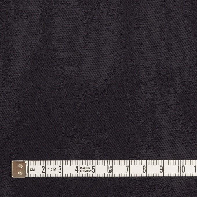 コットン&ポリウレタン×幾何学模様(ダークグレープグレー)×ジャガード・ストレッチ イメージ4