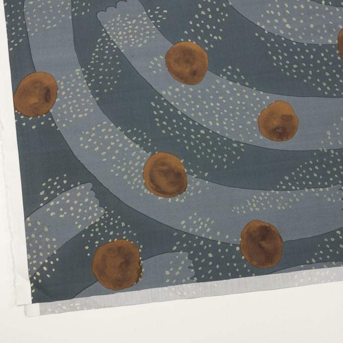 コットン×幾何学模様(グレー&モカ)×ローン イメージ2