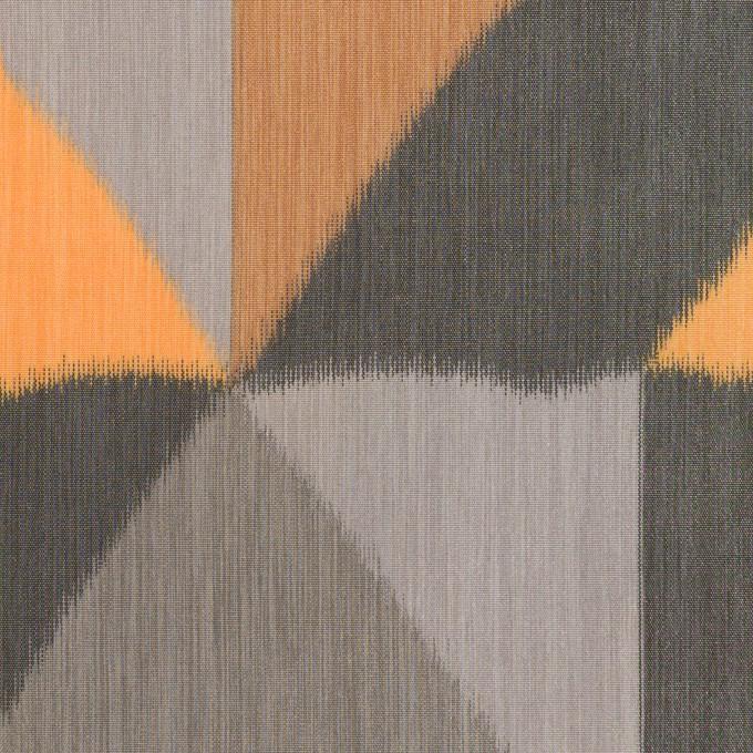 ポリエステル×幾何学模様(オレンジ&グレー)×形状記憶タフタ_全2色 イメージ1