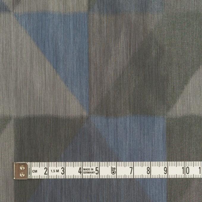ポリエステル×幾何学模様(グレー&ブルー)×形状記憶タフタ_全2色 イメージ4