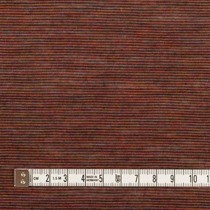 ウール&ナイロン×ボーダー(セピア)×天竺ニット イメージ4