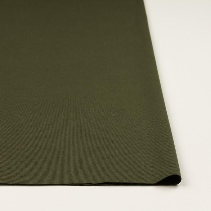 コットン×無地(カーキグリーン)×フライスニット イメージ3