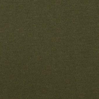 コットン×無地(カーキグリーン)×フライスニット サムネイル1