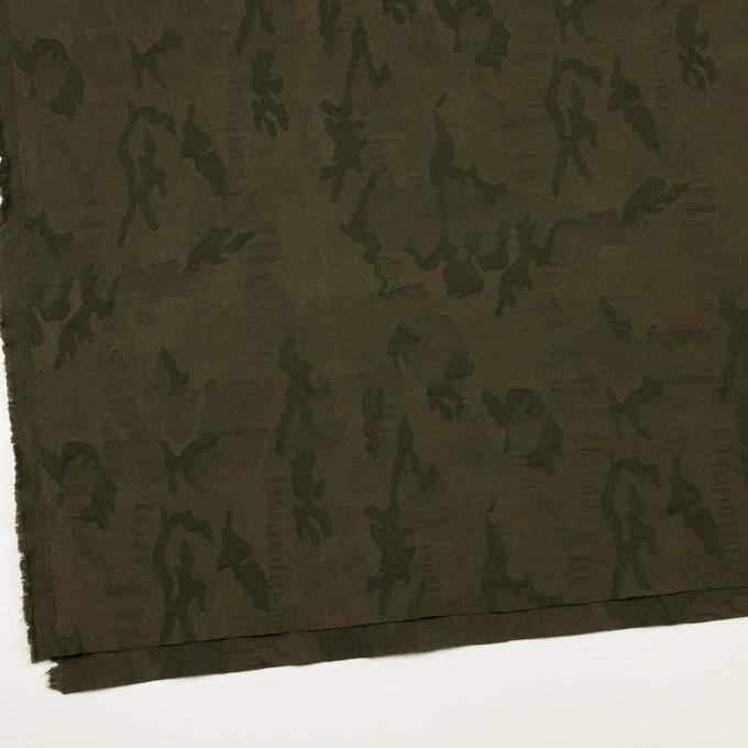 コットン&ポリエステル混×迷彩(カーキグリーン)×ジャガード・ストレッチ イメージ2