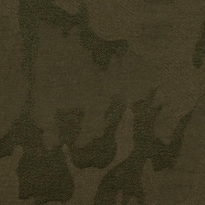 コットン&ポリエステル混×迷彩(カーキグリーン)×ジャガード・ストレッチ イメージ1