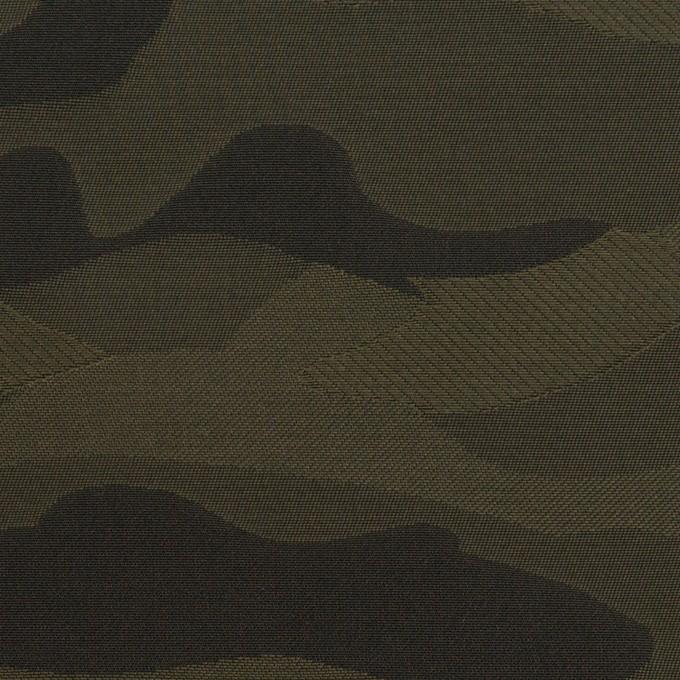 ポリエステル×迷彩(カーキグリーン)×形状記憶タフタ イメージ1