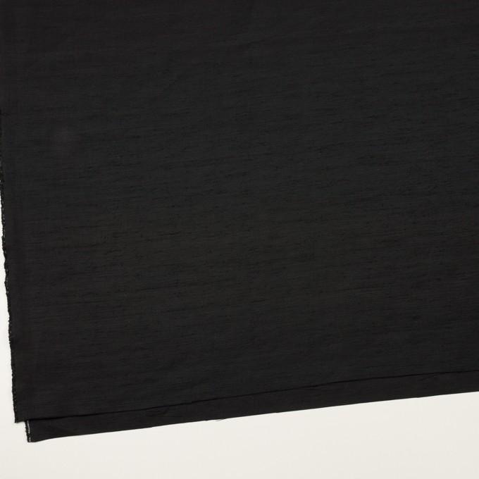 コットン&シルク混×無地(ブラック)×シャンタン イメージ2