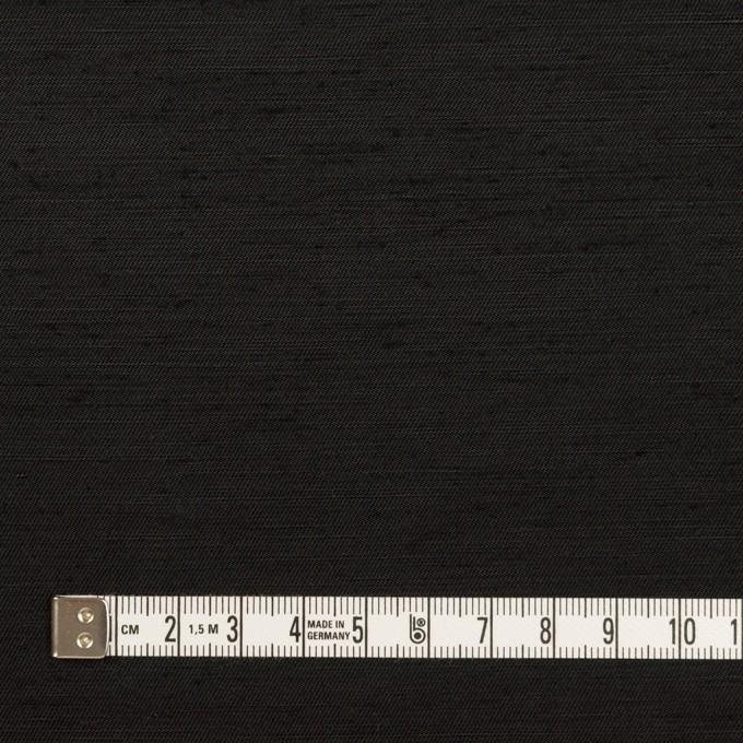 コットン&シルク混×無地(ブラック)×シャンタン イメージ4