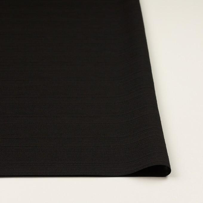 ポリエステル×無地(ブラック)×ジャガード イメージ3