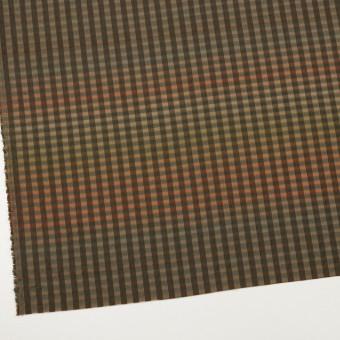 キュプラ&ナイロン×チェック(レンガ&カーキグリーン)×オーガンジー サムネイル2