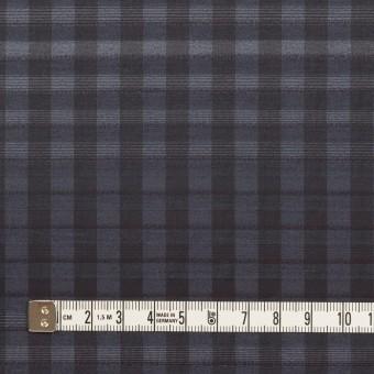 キュプラ&ナイロン×チェック(アッシュネイビー)×オーガンジー サムネイル4