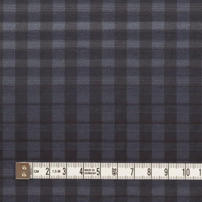 キュプラ&ナイロン×チェック(アッシュネイビー)×オーガンジー イメージ4