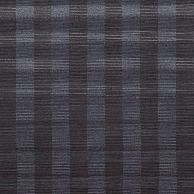 キュプラ&ナイロン×チェック(アッシュネイビー)×オーガンジー イメージ1