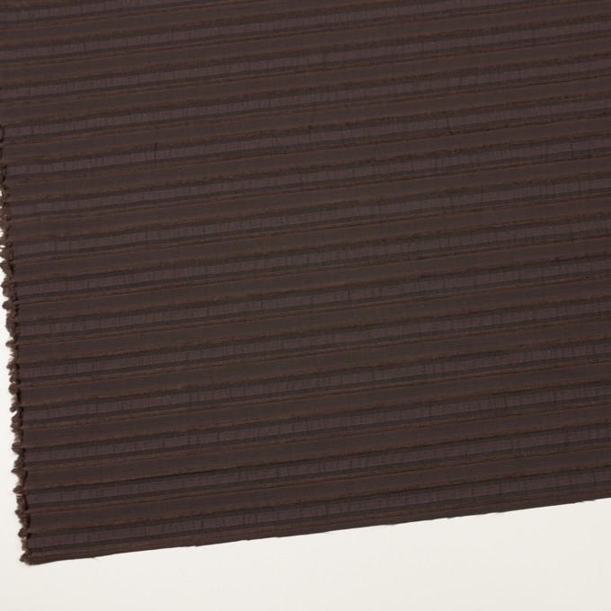 コットン&ナイロン混×ボーダー(ブラウン)×ジャガード・ストレッチ イメージ2