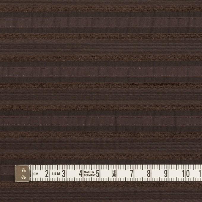 コットン&ナイロン混×ボーダー(ブラウン)×ジャガード・ストレッチ イメージ4