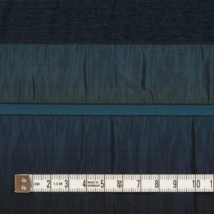 ポリエステル&ナイロン混×ボーダー(ブルー)×タフタジャガード イメージ4